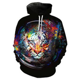 $enCountryForm.capitalKeyWord NZ - Fashion 3D Print Color Tiger Graphic Hoodies Long Sleeve Design Black Pullover Hip Hop Tracksuit Tops Funny Men Women Clothing