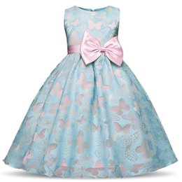 $enCountryForm.capitalKeyWord UK - Flower Girls Dress Summer New Butterly Kids Girl Wedding Princess Party Pageant Formal Dresses Prom Baby Girl Birthday Clothes