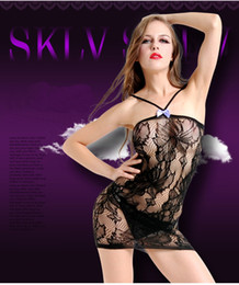 porn sexy dresses NZ - Female Women Erotic Porn Sexy Lingerie Fishnet Seamless Crotch Mini Dress Body Stocking Nightwear Nightdress Nightie Costumes