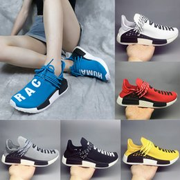 3f0d11420 PW Human Race NMD Yellow Red Green Blue All White designer Casual shoes for  High quality Men Women Classic Jogging Sneakers Size 36-47