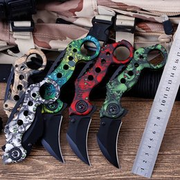 Fox Tactical Gear Australia - High Quality Folding Knife Steel Blade Fox Karambit Claw 59HRC Tactical Knife Outdoor Gear Camping Knives Rescus Tools Hunting Pocket Knives