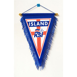 $enCountryForm.capitalKeyWord UK - Iceland National Football Three Corner Handing 2018 Russia Football World Cup 36cm*23cm Size Decoration flag banner for home & garden
