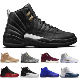 Blue Sky Game Canada - 12 12s men basketball shoes Bordeaux Dark Grey Flu Game The Master Taxi Playoffs French Blue Gamma Barons PSNY Purple Sunrise Sport sneakers