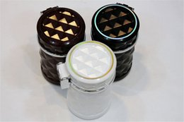 Discount car cooling vents - Cheaper! Car Cigarette Ashtray Portable Auto Smokeless Tobacco Tray with Car Travel LED Blue Light Cool Diamond Cut Face