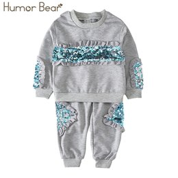 $enCountryForm.capitalKeyWord Canada - Humor Bear Girls Clothing Sets New Autunm Sets Children Clothing Sequins Design Coat+Pants Kids Suit For 3-7Y