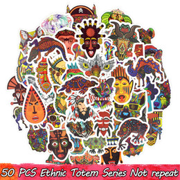 Chinese  50 PCS Lot Ethnic Totem Stickers Decals for Home Decor DIY Laptop Luggage Skateboard Tablet Bicycle Motorbike Car Traditional Style Gifts manufacturers