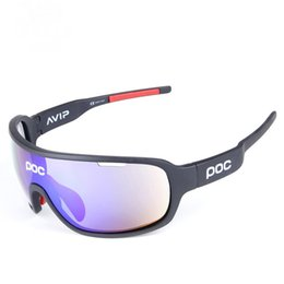 Wholesale Poc Polarized Sports Cycling Glasses Sunglasses with Interchangeable Lenses for Men Women Cycle Bicycle Running Fishing Driving Golf