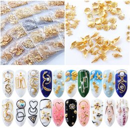 studs decoration NZ - 1 Pack Nail Stud Gold Silver Metal Jellyfish Moon Heart Mix Shape Charm 3D DIY Tiny Rivet For Nail Art Tip Decoration SA698