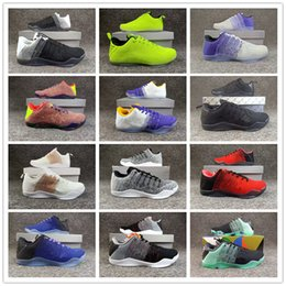 ff7688f0a90d 2018 Hot 12 Colors kobe 11 XI Elite BHM Eulogy Black Cement Basketball Shoes  for High quality KB 11s Mens Trainers Sneakers Size40-46