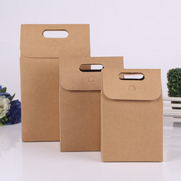 $enCountryForm.capitalKeyWord NZ - Portable Brown Kraft Paper Bags Takeout Food Snacks Packaging Bags Tea Gift Bags Free shipping wen6124