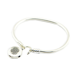 $enCountryForm.capitalKeyWord NZ - MOMENTS Smooth Bracelet with Signature Padlock Sterling Silver Bracelet For Woman DIY jewelry making fit Originall charms & beads bangle