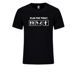 Chinese  Plan For Today Tshirt Problem Solved Guitar T Shirts Men Casual Short Sleeve Electric Acoustic Bass Player Strings Funny T-shirt manufacturers