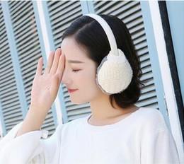 pink earmuffs UK - Earmuffs winter earmuffs male and female students Korean children's ear warm couple
