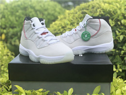 301e87ed302 Top 2018 Release 11 Platinum Tint Sail-University Red Man Basketball Shoes  Authentic Sneakers Sports With Original Box 378037-016 40-47