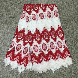 water soluble fabric wholesale NZ - 2018 High Quality Best Selling Swiss voile lace African Lace Fabric White Bed Water-soluble milk silk Nigerian French Fabric