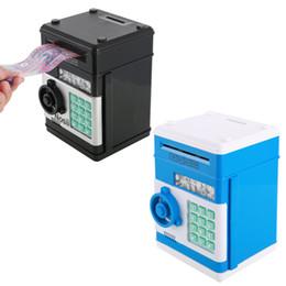 Piggy Electronics UK - Electronic Piggy Bank ATM Password Money Box Cash Coins Saving Box ATM Bank Safe Box Automatic Deposit Banknote Christmas Gift JJ18