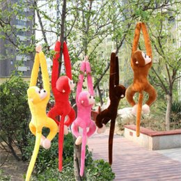 doll monkeys 2019 - 60cm Long Arm Monkey from Arm to Tail Plush Toys Colorful Monkey Curtains Stuffed Animal Doll discount doll monkeys