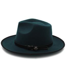 c4bfb270d72 Wholesale Felt Wide Brim Hats Australia - 2018 Fashion Women Felt Chapeu  Feminino Fedora Hat Wide
