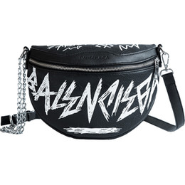 Hip-hop Fashion Female Waist Bag Women Fanny Pack Belt Bag Fashion Letters Chains Shoulder Crossbody Chest Bum sac 6118 from samsung s6 waterproof suppliers