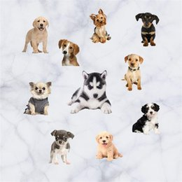 dog wall stickers for bedrooms 2019 - PVC Waterproof Wall Sticker Resuable Eco Friendly Murals Simulation Cartoon Animal Dog Art Removable Stickers Hot Sale 9