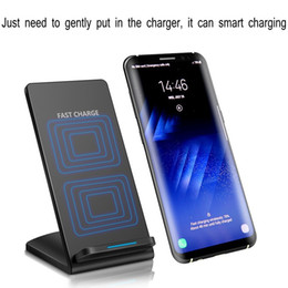 Notes sell online shopping - Hot sell Coils Qi Wireless Charger Stand Pad quick charger for Apple iPhone X Plus Samsung Note S8 S7 all Qi enabled Smartphones