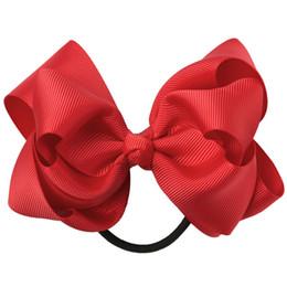 "Pretty Hair For Australia - 20PC Retail 4"" Double Layered Hair Bows With Black Elastic Bands Pretty Hair Bow For Girls School Headbands Hair Accessories"