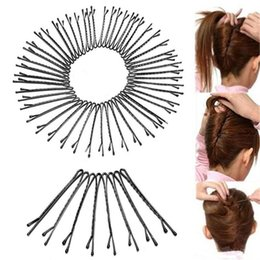 $enCountryForm.capitalKeyWord UK - 60Pcs set Hair Clips for Women Ladies Bobby Pins Invisible Curly Wavy Grips Salon Hairpin Hair Accessories
