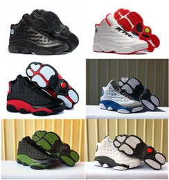 Hologram Shoes NZ - 2018 Cheap New Top Quality 13 13s Basketball Shoes Bred Black Blue White hologram flints Grey Red kids Basketball Shoes