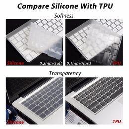 Macbook 13 Inch Waterproof Australia - Waterproof Skin Keyboard Cover Tpu Silicon Clavier Sticker Ultrathin Clear Us Eu For Macbook Air Pro Imac 11 12 13 15 17 Inch