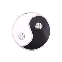 Cheap Bracelet Sets UK - Fashion Cheap Snap Button 18mm yinyang Jewelry DIY Necklace Bracelet Accessory