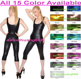 sexy pink cosplay NZ - Sexy Body Suit Costumes Outfit New 15 Color Shiny Lycra Metallic Suit Catsuit Costumes Unisex Sexy Bodysuit Halloween Cosplay Costumes DH068