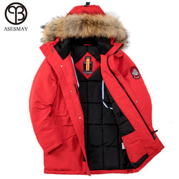 Plus Size Winter Parka Canada - Asesmay 2018 Winter Jacket Men Thick Warm High Quality Waterproof Brand Clothing For Men Winter Coat Man Padded Parka Plus Size