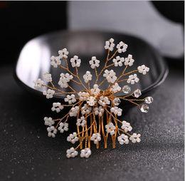 $enCountryForm.capitalKeyWord NZ - Korean Style Bridal Comb, photo studio, decorative glass bead, Wedding Bridal headwear