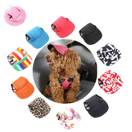 36d99fef677 Discount pet caps hats - Pet Dog Cap Small Pet Summer Canvas Cap Dog  Baseball Visor