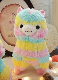 """$enCountryForm.capitalKeyWord Canada - 5"""" Cute Rainbow Alpacasso Kawaii Alpaca Llama Arpakasso Soft Plush Toy Doll Gift"""