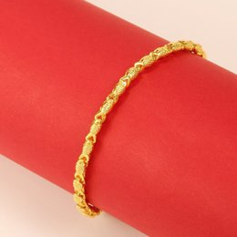 Gold bracelet fish desiGn online shopping - MxGxFam cm Pure Gold Color Fish Cute Bracelet For Women Fashion Personal Designs Allergy Free