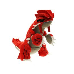 "China Hot Sale 11.8"" 30cm Groudon Pikachu Plush Stuffed Doll Toy For Kids Best Holiday Gifts cheap hottest new toys suppliers"