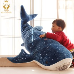 $enCountryForm.capitalKeyWord Canada - Humpback whale shark plush toy big whale doll home cushions cartoon shark blue children pillow stuffed animals