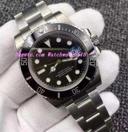 $enCountryForm.capitalKeyWord Australia - 2019 Luxury Watches V5 Asia 2813 Movement Box Papers Black Dial 40MM Ceramic Bezel Sapphire Glass 116610 Automatic Men