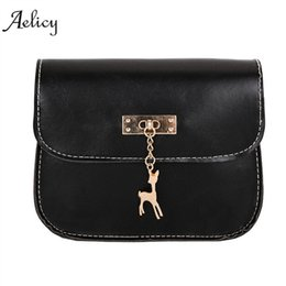 $enCountryForm.capitalKeyWord NZ - Aelicy New Women Messenger Bags Vintage Small Shell Leather Handbag Casual Packet Deer Pendant high quality hot sales