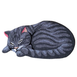 american floor mats UK - Sleeping Cat Carpet Rug Balcony Floor Mat Doormats Kids Bedroom Antiskid Area Rugs Living Room Hallway Floor Mat Carpet Doormat