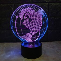 $enCountryForm.capitalKeyWord Australia - Double Color 3D Earth Globe LED Visual Colorful Night Light Illusion Table Baby Sleeping Night Lamp Child Kid Holiday Wholesale Dropshipping