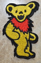 $enCountryForm.capitalKeyWord NZ - HOT SALE! ~ Yellow Grateful Dead Grooving DANCING BEAR Iron On Patches, sew on patch,Appliques, Made of Cloth,100% Quality
