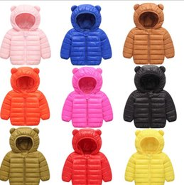 Down coat for baby online shopping - Children Winter Jacket for Girl Kids Casual Hooded Coat Baby Clothing Outwear Kids winter Warm Overcoat KKA6146