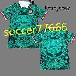 9f68eb8b8e8 1998 MEXICO RETRO SOCCER JERSEYS #11 BLANCO #15 HERNANDEZ HOME GREE AWAY  WHITE GREE world cup 1998 mexico JERSEY FOOTBALL SHIRTS