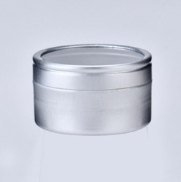 China 10g Empty cosmetic sample aluminum cream container with window screw lid, small lipstick can lip balm jars LX1308 suppliers