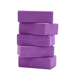 Chinese  1Pc Purple Yoga Block EVA FoamAid Body Shaping Health Training Brick Pilates Sports Dance Exercise Gym Workout Stretching manufacturers