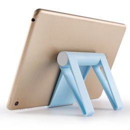 Mobile Tablet Stand NZ - Landas Universal Folding Phone Stand Holder For iPad Tablet Stand With Mobile For Samsung For Huawei Smart Phone Adjustable Stand