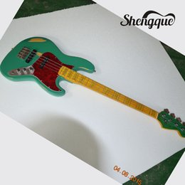 $enCountryForm.capitalKeyWord Australia - Factory custom Exclusive green jazz bass guitar 4 Strings relic guitar high quality electric bass guitars musical instrument shop
