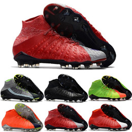 72047b0168f8 Mens Soccer Cleats Hypervenom Phantom III EA Sports FG Soccer Shoes Soft  Ground Football Boots Cheap Rising Fast Pack Neymar boots Eur39-45